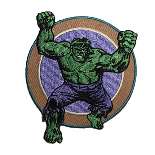 HULK SUPERHERO SUPER HERO MARVEL COMICS EMBROIDERY IRON ON PATCH