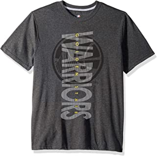 NBA Golden State Warriors Men's T-Shirt Upright Logo Short Sleeve Tee Shirt, X-Large, Charcoal