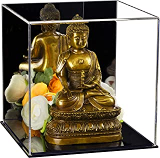 Better Display Cases Versatile Acrylic Mirrored Display Case, Cube, Dust Cover or Riser with Black Base 8