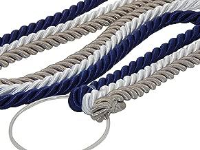 Cord of Three Strands, Wedding Knot, Ceremony Rope, Dark Silver, White, Navy 3/8