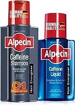 Alpecin Caffeine Shampoo C1, 250ml & Alpecin Caffeine Liquid, 200ml – against hair loss in men, bundle set