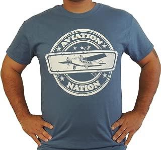 Pilot Shirt, Aviation Nation, Pilot T-Shirts, Pilot Clothing, Airplane Shirt, with
