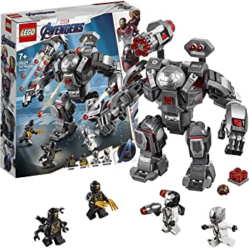 LEGO 76124 Marvel Avengers War Machine Action Figure, Ant-Man Minifigure, Super Heroes Playset