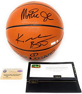 050f8134f Kobe Bryant Magic Johnson Los Angeles Lakers Dual Signed Autograph NBA Game  Basketball Steiner Sports Panini