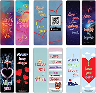 Love You 3000 Dad Bookmarker Cards (30-Pack) - Stocking Stuffers Gift for Husbands Wife Children Men Women Daddy Mom Adult...