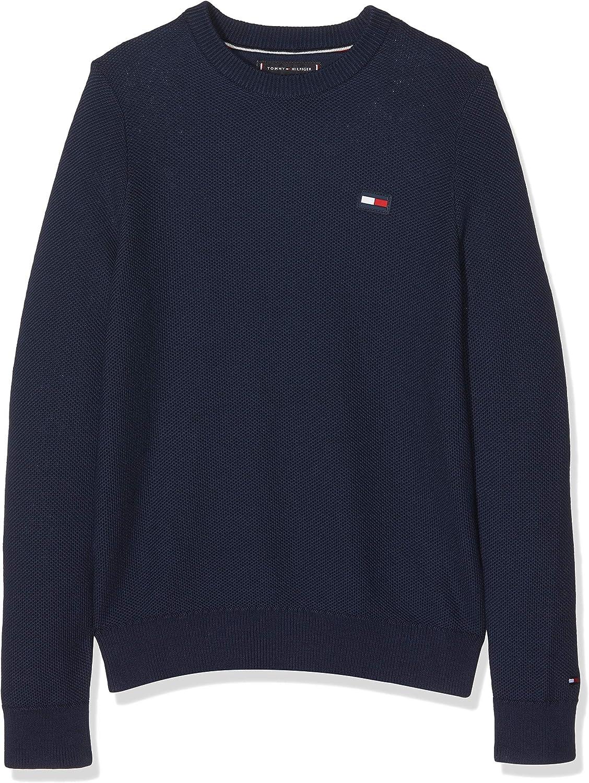 Essential Sweatshirt Jungen Hilfiger Tommy Structurot