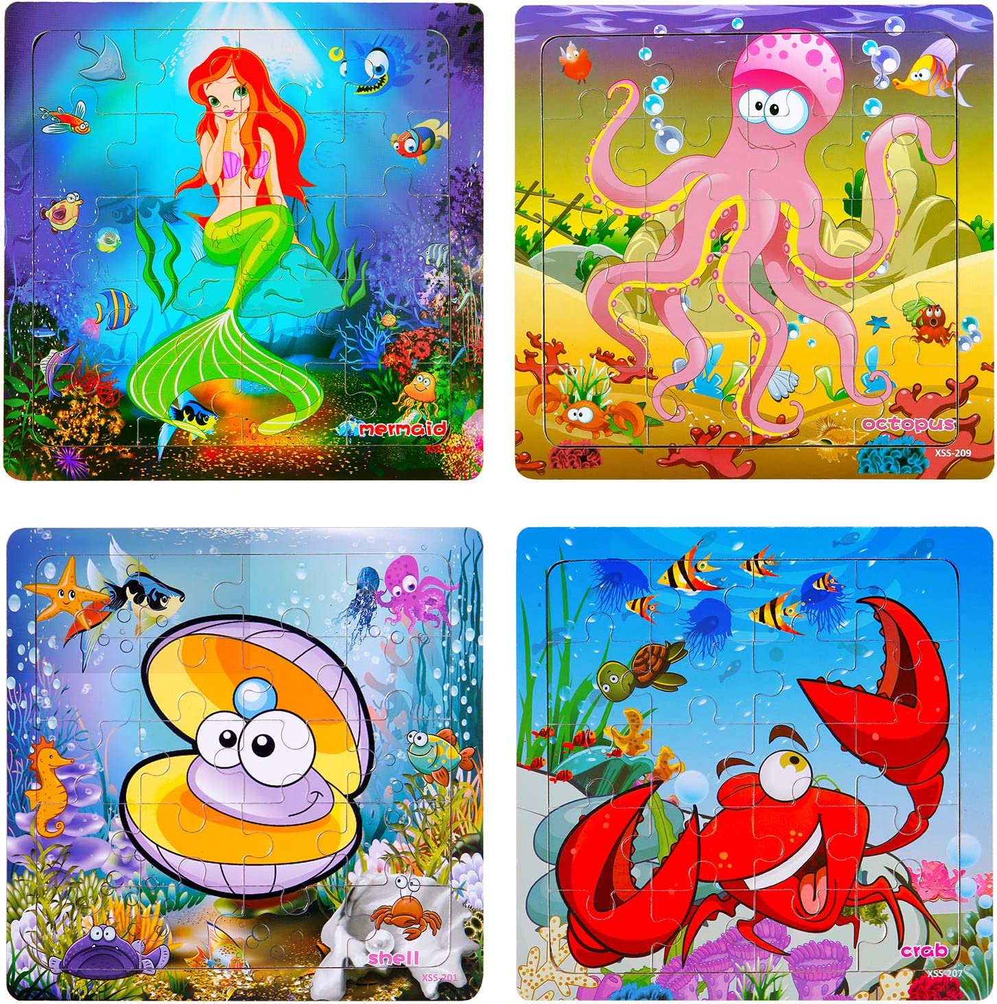 Puzzles for Kids Ages 3-5 Toddler Pack Pieces Max 44% OFF 20 4 Las Vegas Mall Woode
