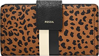 Fossil Women`s Logan RFID-Blocking Leather Tab Clutch Wallet