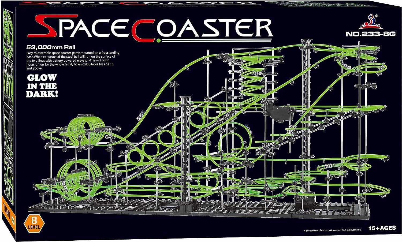 Spacecoaster Rails Glow in The Dark 53,000mm Rail Level 8 Game