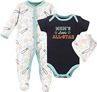 Luvable Friends Baby Sleeper, Bodysuit and Bandana Bib Set
