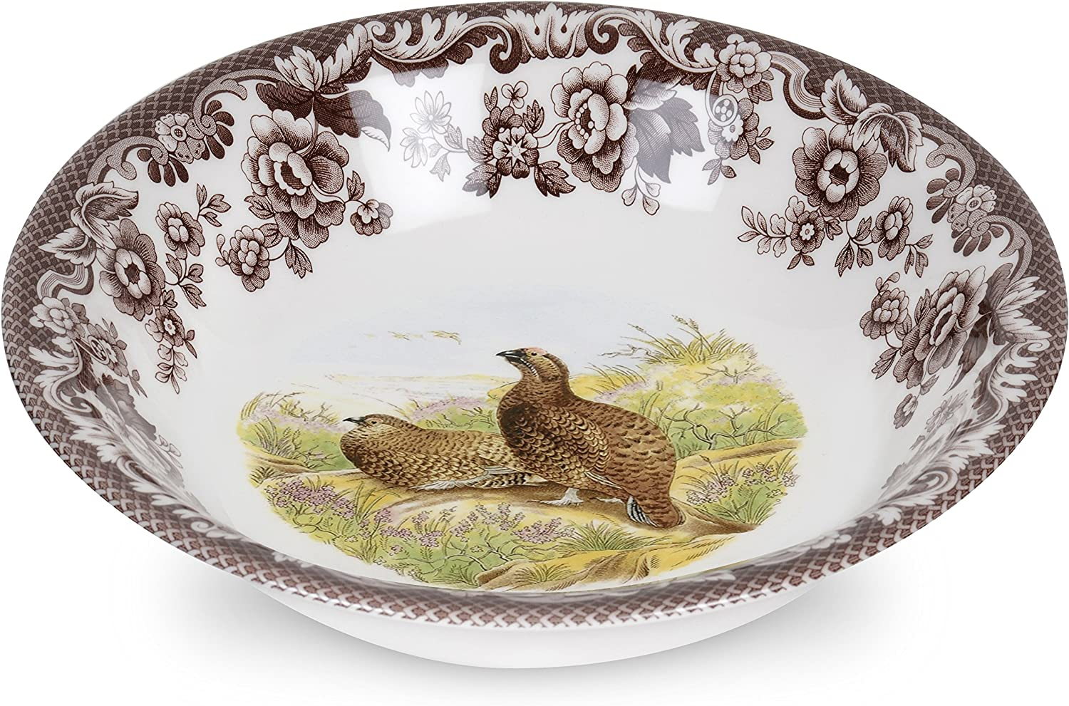 sold out Max 57% OFF Spode Woodland Ascot Cereal Red Bowl Grouse