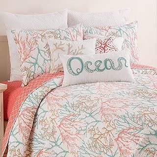 C&F Home Oceanaire Seafoam King Quilt Set Oversized Cotton Beach Ocean Coastal Reef Bedspread Coverlet 3 Piece with 2 Shams