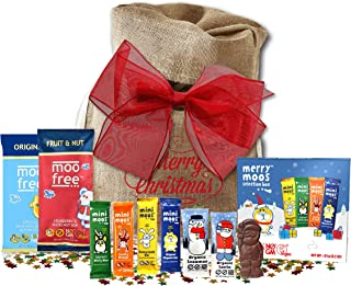 Moo Free Dairy Free Chocolate Candy | British Vegan Candy | Great Assortment Mini Moos | Gluten Free CHocolate Gift (Christmas Santa Sack)
