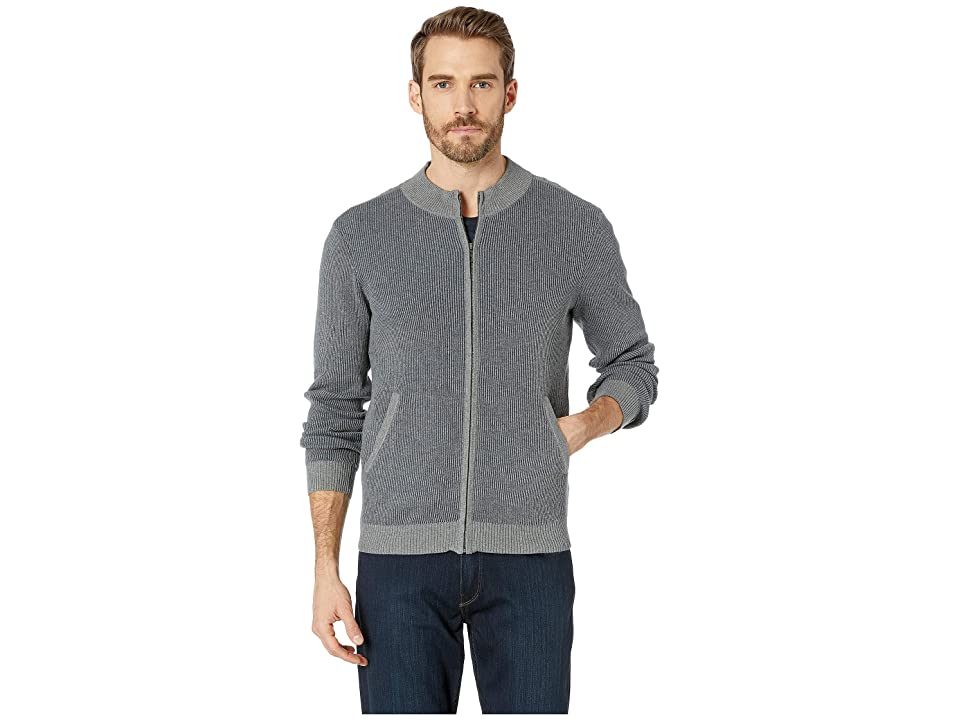 Agave Denim Beacon Long Sleeve Full Zip Sweater (Heather) Men
