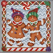 Ginger Friends Beaded Counted Cross Stitch Kit MH144301 Mill Hill Buttons & Beads 2014 Winter