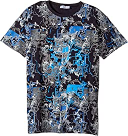 Versace Kids - Short Sleeve Barocco Circuit Graphic T-Shirt (Big Kids)