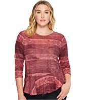 Lucky Brand - Plus Size Printed Ruffle Top