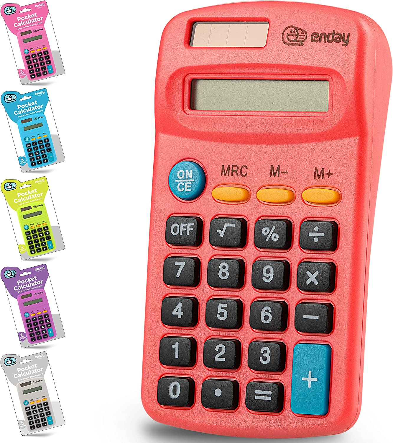 Calculator Red Department store Basic Small Solar Battery and Large Surprise price Di Operated