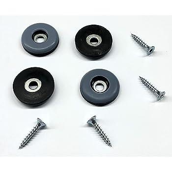 curseurs Lot de 16/vis de 40/mm sur patins en t/éflon PTFE glisse pour chaises et appareils Base de t/éflon Patin Patin /à vis