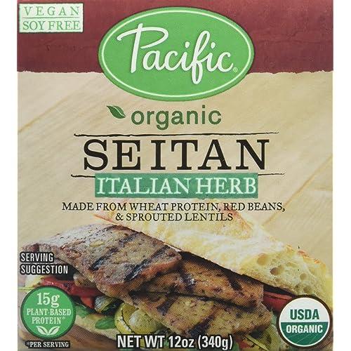 Pacific Foods Organic Seitan, Italian Herb, 12 Ounce