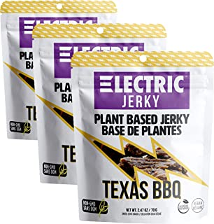 Electric Jerky 1.0 - Texas BBQ - 3 Pack - Vegan Plant Based Jerky