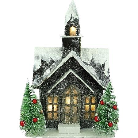 10 LED Light Wood House 2 Meters Christmas Tree Hanging Ornaments Decor vcx