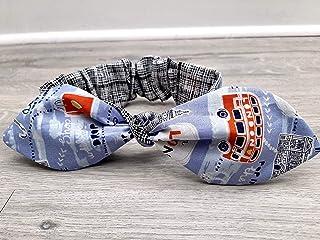Travel London Fabric Headband, Cute Hair Accessory, Top Knot Headband, Reversible Headband, Rosie Wrap, Rockabilly Headband, Hair Scarf, Unique Hair Accessory