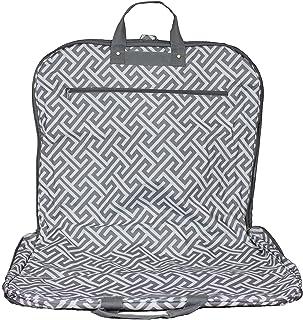 World Traveler World Traveler 40-inch Hanging Garment Bag - Greek Key H Grey White, Greek Key H Grey White (Gray) - 81GM40-185Grey-W