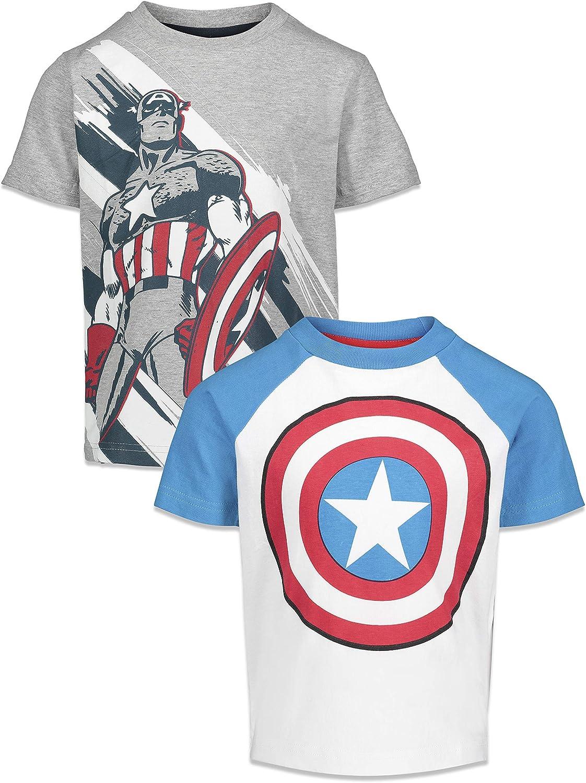 Marvel Captain America Boys Short Sleeve 2 Pack T-Shirts