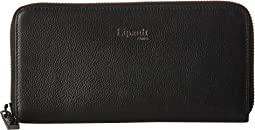 Plume Elegance Leather Zip Around Wallet