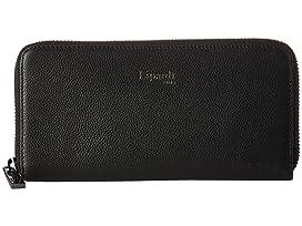 Plume Elegance Leather Zip Around Wallet