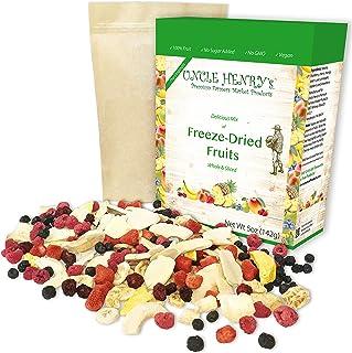 Freeze Dried Fruit: 9 Delicious Fruits Strawberry, Blueberry, Raspberry & More, 5oz (142g) Large Bulk Re-Sealable Kraft Ba...