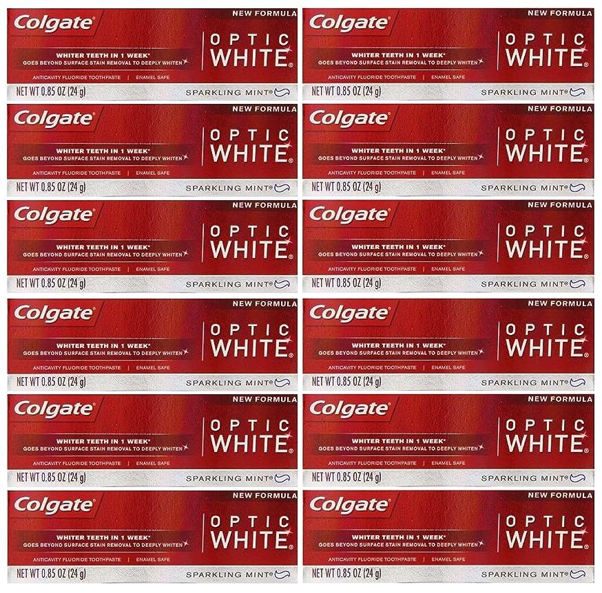 煙ゴミ公平Colgate 12パック - ハミガキ、スパークリングホワイト、スパークリングミント、トラベルサイズ0.85オンスホワイトニングオプティックホワイト歯