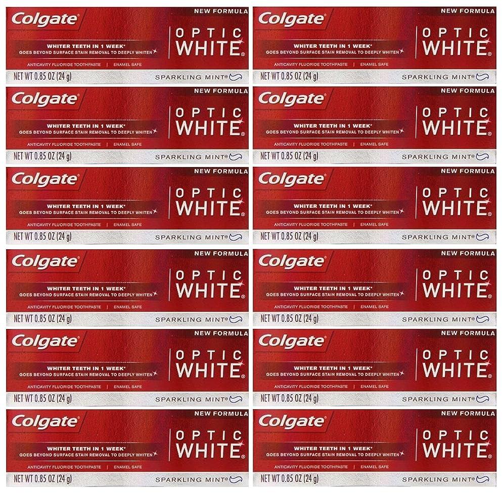 廃止する真鍮精巧なColgate 12パック - ハミガキ、スパークリングホワイト、スパークリングミント、トラベルサイズ0.85オンスホワイトニングオプティックホワイト歯