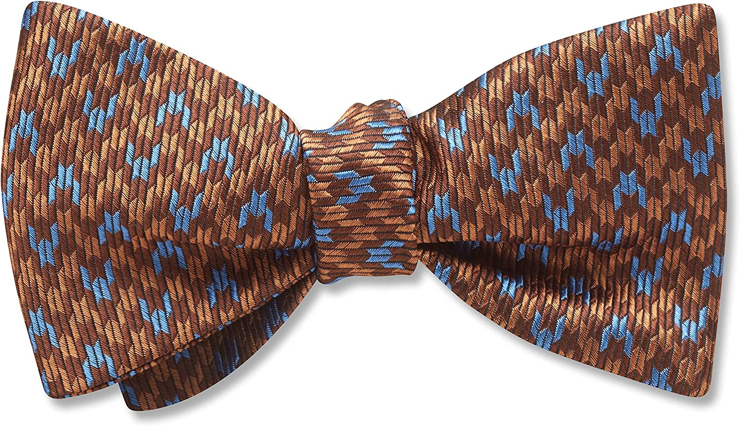 Baskerville Brown Geometric, Men's Bow Tie, Handmade in the USA