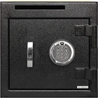 Templeton Small Depository Drop Safe with Electronic Multi-User Keypad Combination Lock with Key Backup, Anti Fishing Security, Black 1.12 CBF