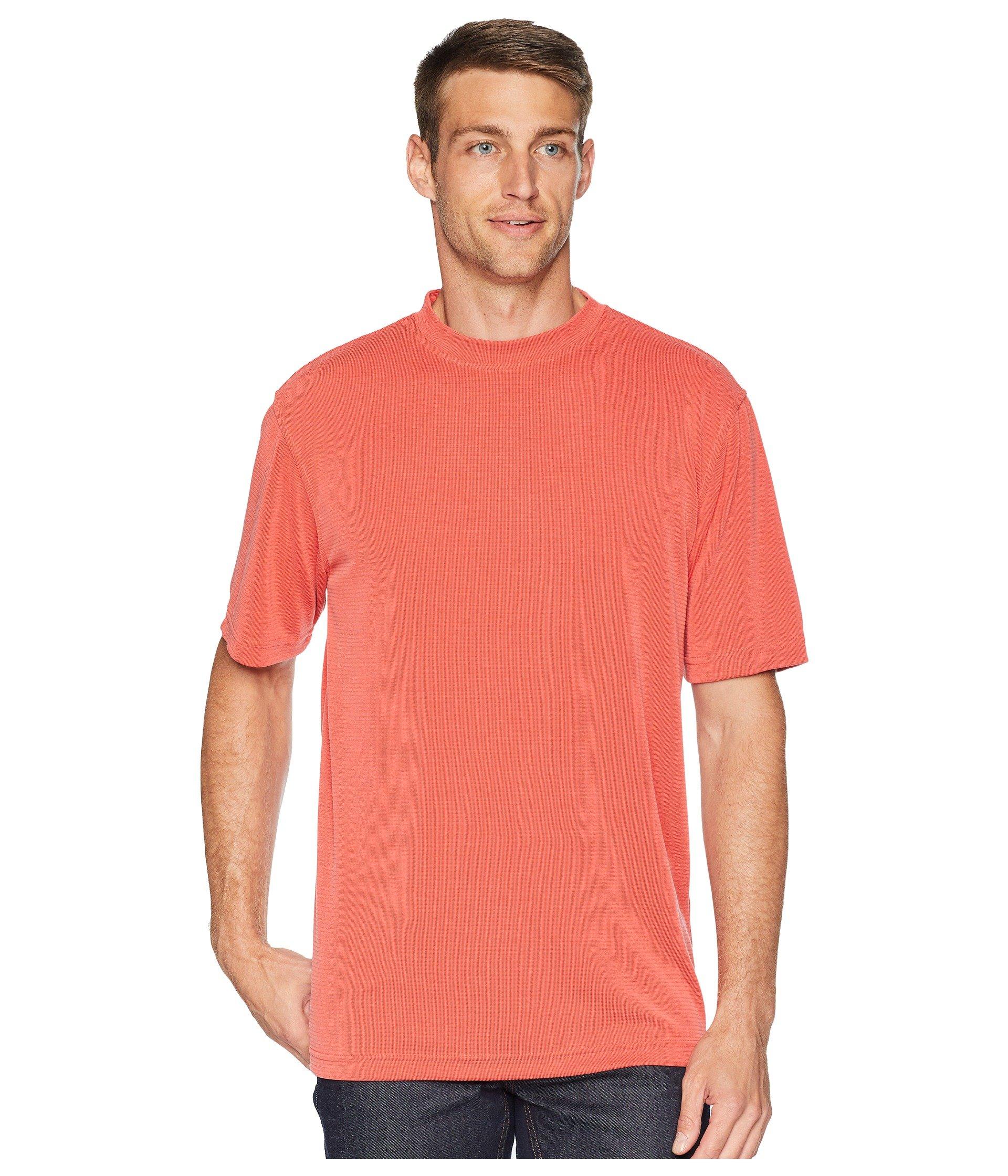 Bugatchi Modal blend shirt T Ruby Crew Textured qwvHrnaq