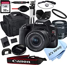 $579 » Canon EOS Rebel SL3 DSLR Camera with 18-55mm f/4-5.6 is STM Zoom Lens + 32GB Card, Tripod, Case, and More (18pc Bundle)