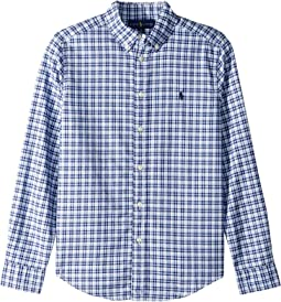 Plaid Cotton Oxford Shirt (Big Kids)