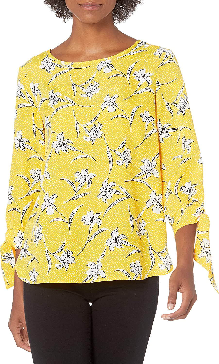NINE WEST Selling and selling Women's Max 58% OFF Long Sleeves Blouse with Tie