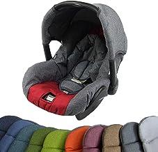 Komplett-Set STERNE OLIVE *NEU* Bezug f/ür Babyschale BAMBINIWELT Ersatzbezug f/ür Maxi-Cosi PEBBLE 5-tlg