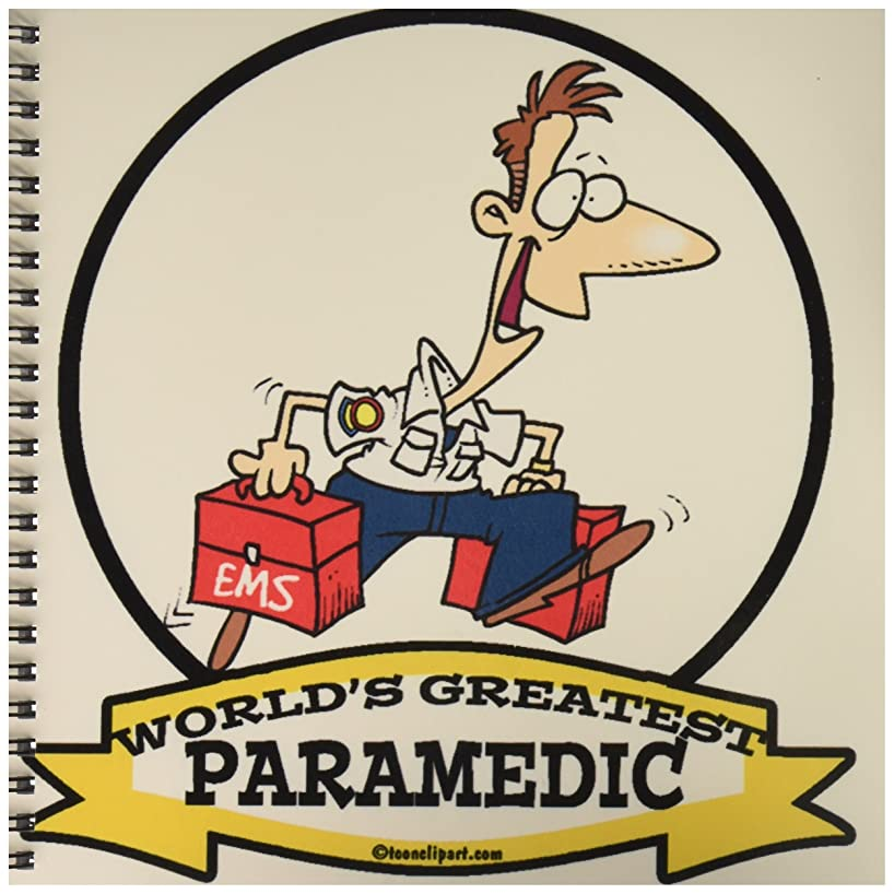 3dRose db_103423_1 Funny Worlds Greatest Paramedic Occupation Job Cartoon-Drawing Book, 8 by 8-Inch