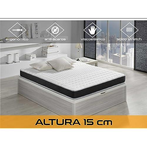 Dormi Premium Basic 15 – Colchón - Colchón Viscoelástico 90 x 190 x 15 cm,