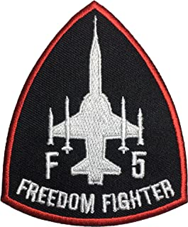 F-5 Freedom Fighter Tiger II Embroidered Sew Iron on Patch - Black Red by Ranger Return (F5-BLACK)