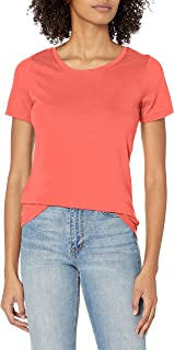 French Toast Women's Short Sleeve Crewneck Tee, X-Large - Fiery Coral Heather