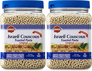 Best Baron's Original Israeli Couscous Toasted Pasta | 100% Natural Pearled Noodles for Salads, Soups & Side Dishes | Cooks in 10 Minutes! | Kosher| 2 Pack 21.16oz Jars Review