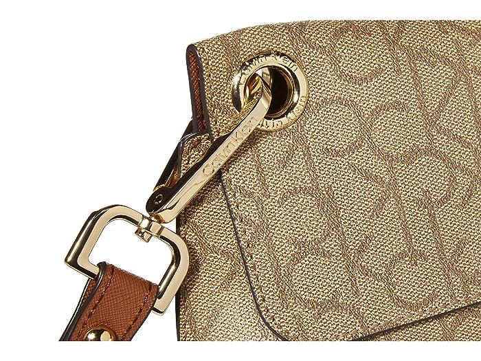 Calvin Klein Sonoma Signature Flap Crossbody - Bolsas Bolsos