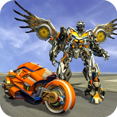 Futuristic Flying Eagle Robot Transform City Rescue: Ultimate Robot Shooting Games 2020