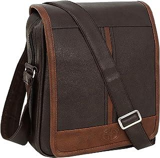 Storite Stylish PU Leather Sling Cross Body Travel Office Business Messenger One Side Shoulder Bag for Men Women(30x24x5.5...