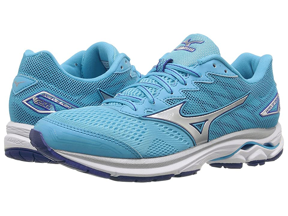 Mizuno Wave Rider 20 (Blue Atoll/Silver/White) Women